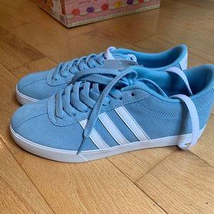 Blue adidasneo comfort footbed.